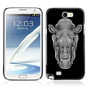 Designer Depo Hard Protection Case for Samsung Galaxy Note 2 N7100 / Rhinoceros Cool by icecream design