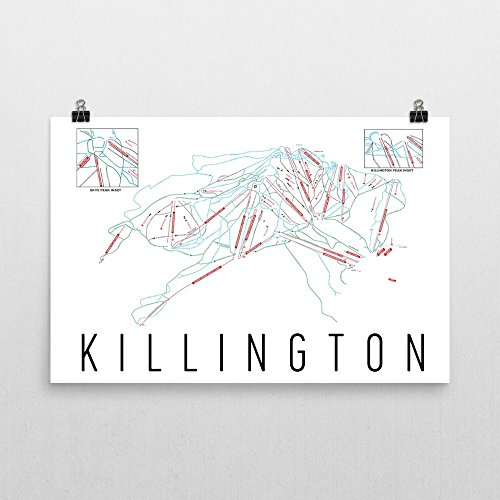 Killington Poster, Killington Ski Resort Poster, Killington Art Print, Killington Trail Map, Killington Trail Map Art, Killington Wall Art Poster, Killington Colorado Decorative Map, (24