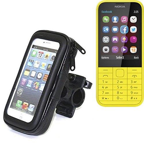 Montaje de la bici para Nokia 225 Dual SIM, montaje del manillar para smartphones / teléfonos móviles, de aplicación universal. Conveniente para la bicicleta, motocicleta, quad, moto, etc. repelente a