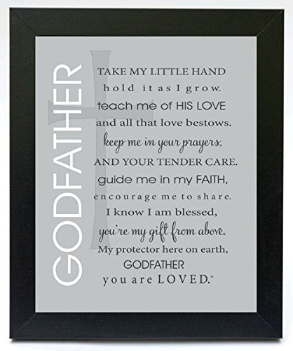 Amazon.com - Godmother and Godfather Poetry Gift Frames - Baptism ...