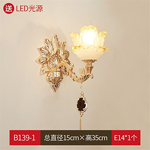 Industrial Vintage Wall Sconces French Crystal Passage Corridor Wall Bedroom Bedside Wall Lights Luxurious Atmosphere Living Room TV Wall lamp ()