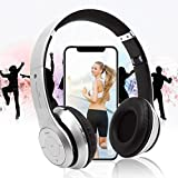 YOYORI Wireless BT4.1 Headphones Over Ear, Noise Cancelling Over Ear with Microphone, Foldable, Soft Memory-Protein Earmuffs, w/Built-in Mic and Wired Mode for PC/Cell Phones/TV (Silver)