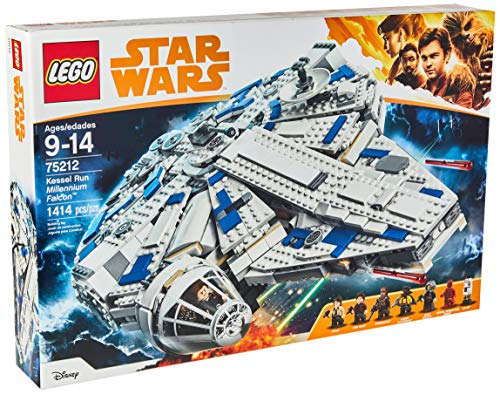 - LEGO Star Wars Solo: A Star Wars Story Kessel Run Millennium Falcon 75212 Building Kit and Starship Model Set, Popular Building Toy and Gift for Kids (1414 Piece)