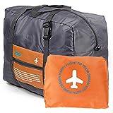 【Ludus Felix】スーツケースの持ち手に通せる折り畳みバッグ ポケッタブルボストンバッグ  折りたたみ トラベルバッグ  超軽量バッグ フォールディングバッグ 全4色