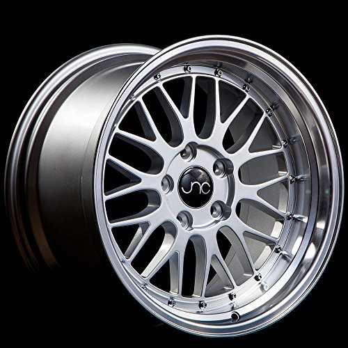 JNC005 Silver Machine Lip 18x10 5x120 ET22 Offset Wheel Rim -