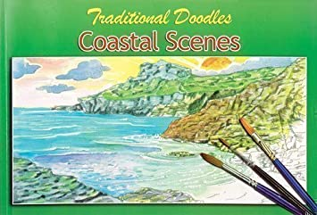 Lanscape 30 x 20cm Adults Traditional Doodles Coastal Scenes ...