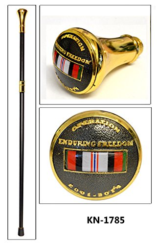 Freedom Ribbon - Walking Cane with Enduring Freedom Ribbon Design on the Handle