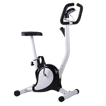begorey Bicicleta de Ejercicio Vertical Bicicleta Fitness con Pantalla LCD Home Office