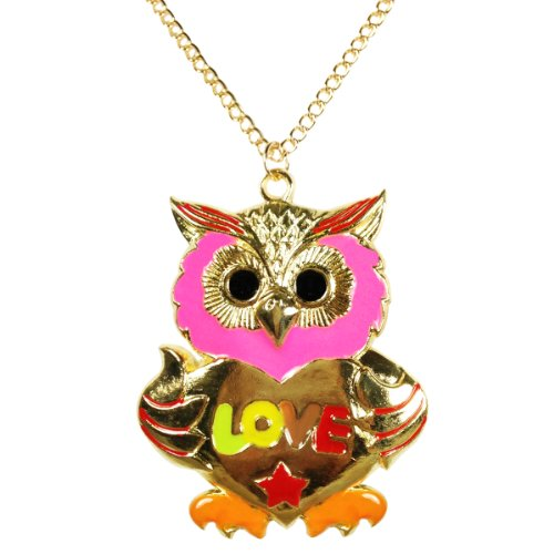 Wrapables Big Love Owl Necklace
