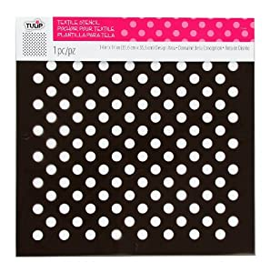 amazon com tulip design stencil template large polka dots