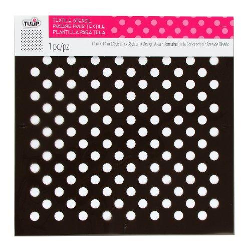 UPC 017754323521, Tulip Design Stencil Template, Large, Polka Dots