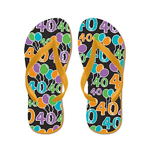 CafePress colorful 40Th Birthday - Flip Flops, Funny Thong Sandals, Beach Sandals Orange