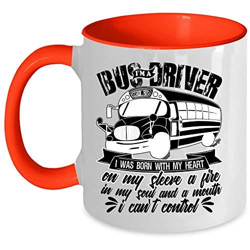 Cool Driver Coffee Mug, I'm A School Bus Driver Accent Mug (Accent Mug - Red)