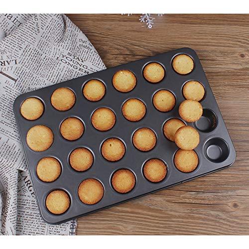 Kingrol 24-Cup Nonstick Mini Cupcake & Muffin Pans, Carbon Steel Baking Pans - 2 Pack