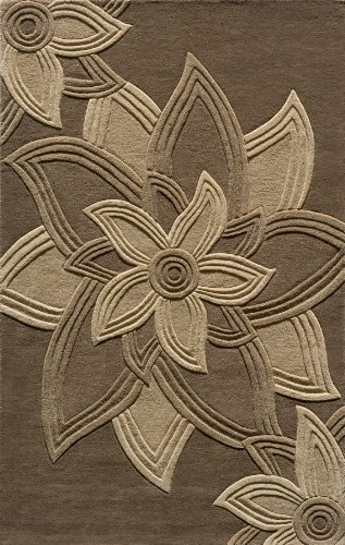 Momeni Rugs DELHIDL-40MOC5080 Delhi Collection Area Rug, 5' x 8', Mocha