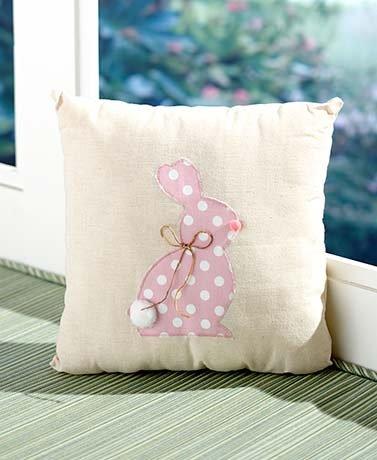 イースター装飾コレクション、ピンクCottontail枕 B06XXH4GXT