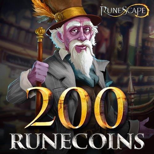 200 Runecoins  Runescape  Instant Access