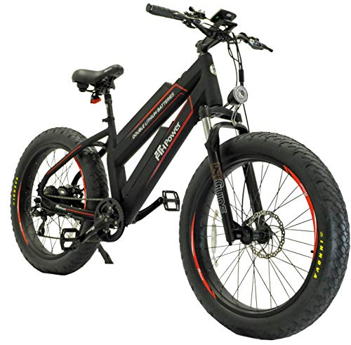 Pedal Faster Huge Capacity (23.2Ah in Total) Dual Removable Lithium-ion Batteries 26'' 4.0inch Fat tire Aluminum Electric Bike 48V 750W Fat Tire Beach Snow Electric Bicycle with Shimano 7 Speeds