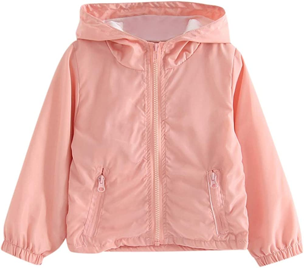 Rosiest Children Baby Coat Autumn Jacket Outerwear Pure Color Windbreaker Clothes