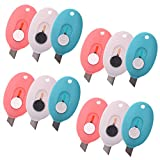 COSMOS Pack of 12 Mini Retractable Utility Knife Box Cutter Letter Opener, Random Color