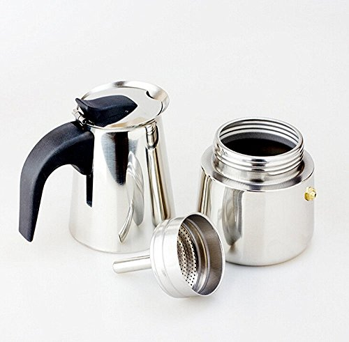 Coffee Maker Stainless Steel Pot : BTbestop Stainless Steel Stovetop Moka Pot Espresso Coffee Maker, 9 Cups - Coffee Pigs