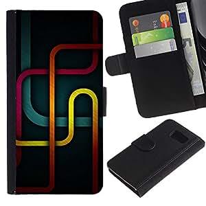 YiPhone /// Tirón de la caja Cartera de cuero con ranuras para tarjetas - Metro Líneas - Sony Xperia Z3 Compact