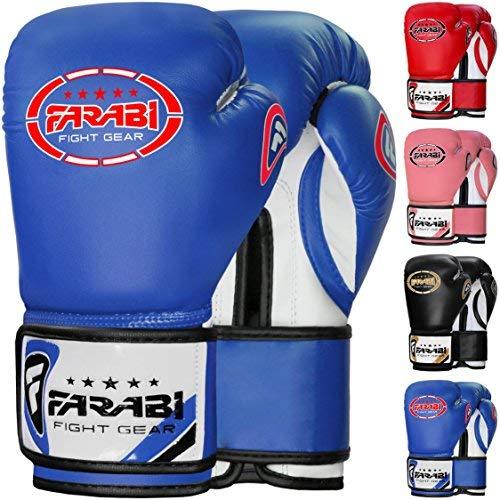 Farabi 8-oz Boxing Gloves Sparring Training Punching Bag Gloves Training Workout Gym Fitness Mitts [並行輸入品] B07T1XL36Q
