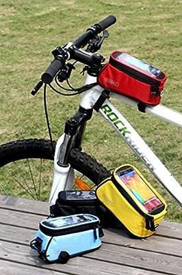 LoHai Ciclismo | ROSWHEEL bicicleta tubo marco de bicicleta bolsa, cabeza bolsa, ciclismo bolsa de tubo frontal para teléfono Soporte con Super Clear PVC Protector de para iPhone 6S/6/5/5S/5 C, Samsung Galaxy