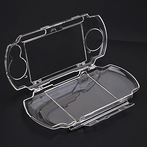 Whitelotous Protector Clear Clip on Crystal Travel Carry Hard Cover Case for Sony PSP 2000 3000 (Psp 3000 Crystal)