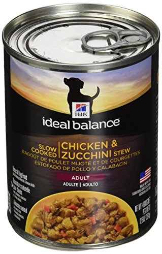 Hill's Ideal Balance Slow Cooked Chicken & Zucchini Stew Adult dog food 12.5 oz (354 g) can, Large