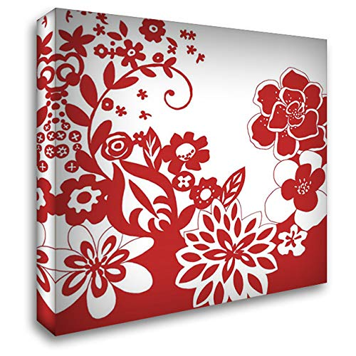 (Vibrant Tokyo Garden V 28x28 Gallery Wrapped Stretched Canvas Art by Zarris, Chariklia)