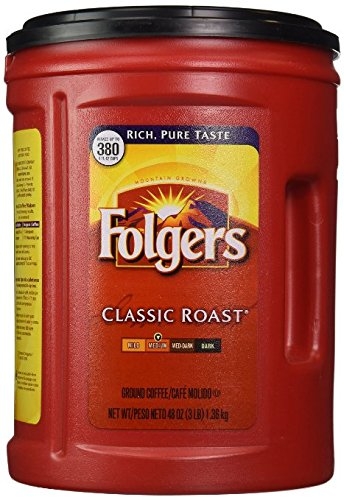 Folgers Coffee, Classic(Medium) Roast, 48 Ounce (Pack of 2)