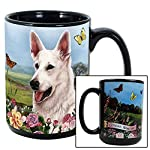 Imprints Plus Dog Breeds (E-P) German Shepherd White 15-oz Coffee Mug Bundle with Non-Negotiable K-Nine Cash (german shepherd white 081) 8