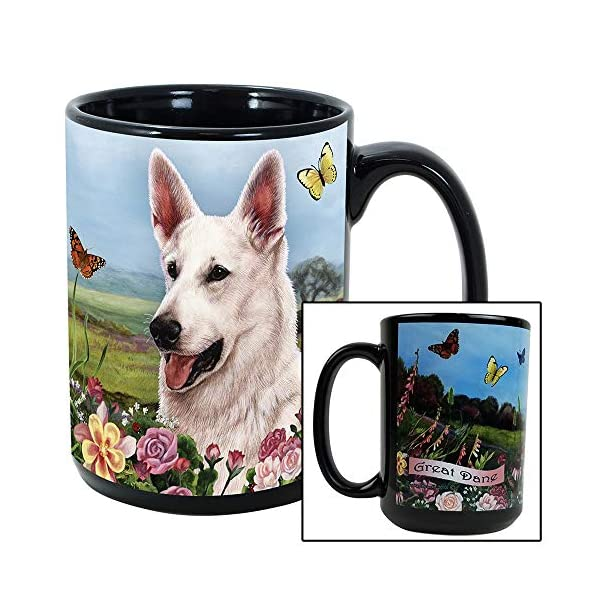 Imprints Plus Dog Breeds (E-P) German Shepherd White 15-oz Coffee Mug Bundle with Non-Negotiable K-Nine Cash (german shepherd white 081) 3