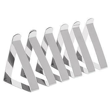 Silber,5 * 4cm Fogun Tischtuchklammern Set Edelstahl 6 St/ück