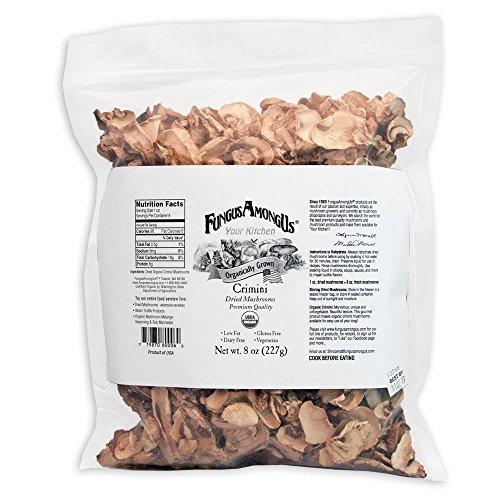 8 Oz Mushroom - Bulk Dried Organic Crimini Mushrooms - 8 oz - FungusAmongUs