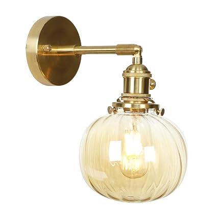 Amazon.com: Luces de pared de cobre giratorias ajustables ...