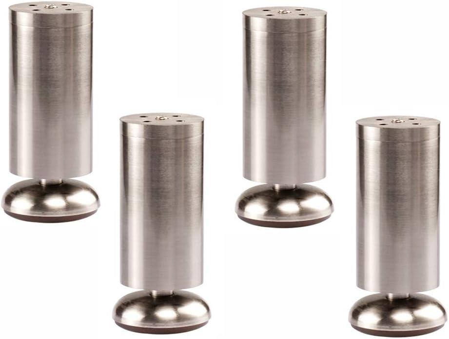 Qrity 4x Patas de Madera para Muebles Sof/á Gabinete Oblicuas C/ónicas TV de 100 mm de Altura con Alfombrilla Antideslizante Tornillos y Placa de Montaje