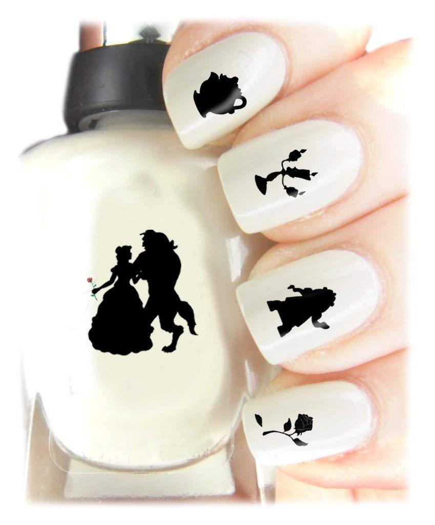 Beauty and the Beast facile d'utilisation, DE HAUTE Qualité Nail Art Autocollant Stickers pour chaque occasion. Cadeau de Noël idéal/cadeau–Excellent Cadeau Beauty and the Beast SNAD