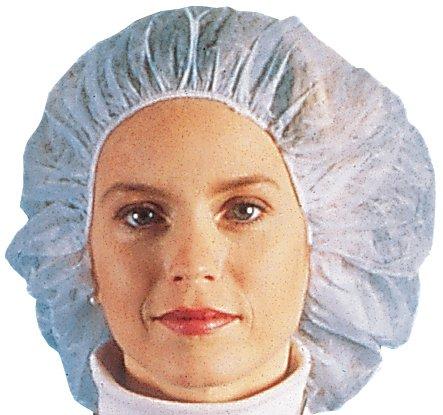 """Nurse/Bouffant Cap (Hairnets), White, Box of 100 Pieces - 21"""""""