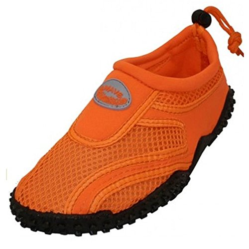 Los Calcetines Wave Beachs Water Zapatos Pool Beach Aqua, Yoga, Ejercicio Neon Orange