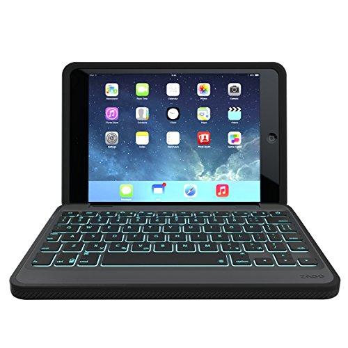 ZAGG Rugged Book Durable Case, Hinged with Detachable Backlit Keyboard for iPad Mini/Mini 2/ Mini 3 - Black by ZAGG (Image #1)