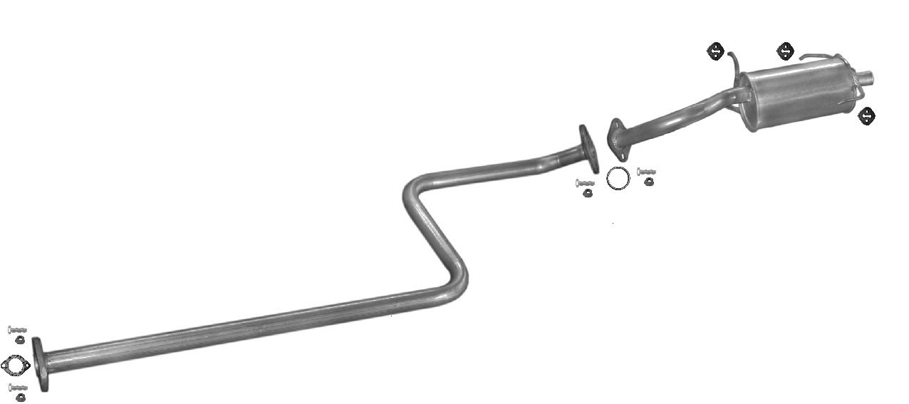 ETS-EXHAUST 5158 Silencer Exhaust System (fits MICRA 1.0 HATCHBACK 54hp 1993-1999)