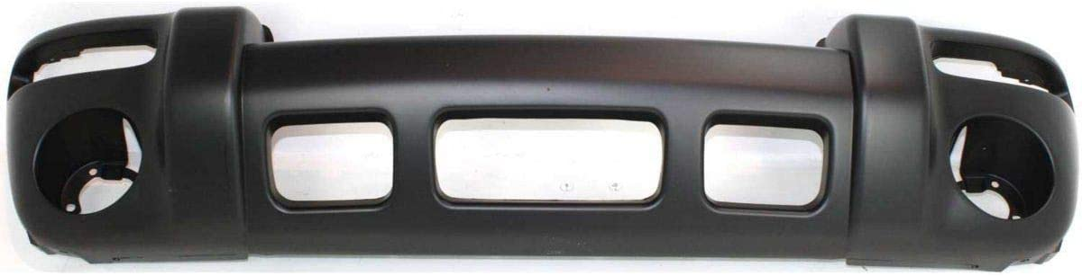 Front Bumper Cover For 2002-2004 Jeep Liberty Renegade w// Hole Primed Plastic