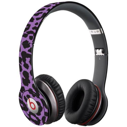 Purple Leopard Decal Skin for Beats Solo HD Headphones by Dr. Dre