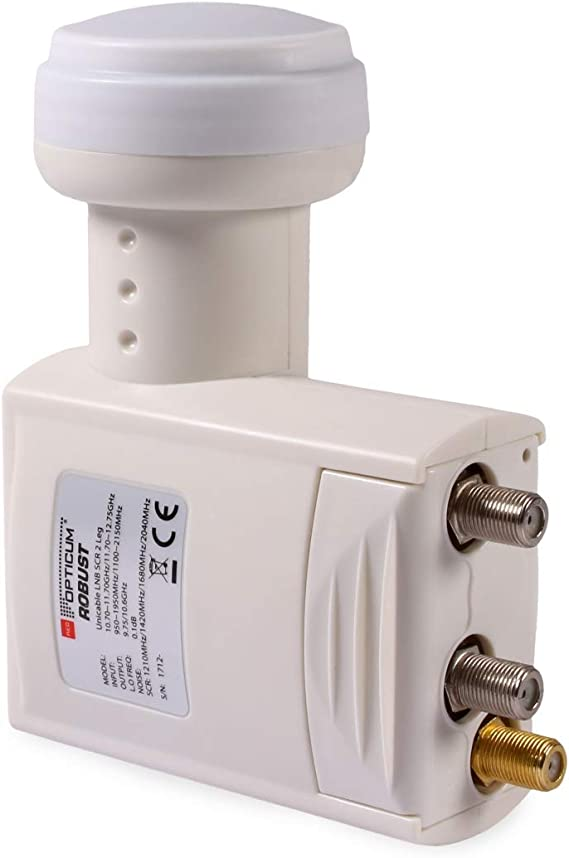 Opticum Red Robusto Legacy Unicable 2 SCR 2 LNB / 8+2 participantes/un Cable/LTE apantallado / 4K, 3D, UHD Ready