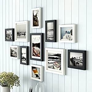 Art Street Boulevard Photo Frame Set of 11 Picture Frames for Wall Hanging (8×10-3 pcs, 6×8-8 pcs)-Black and White