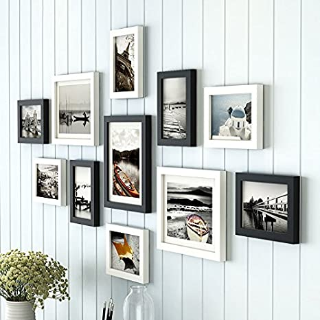 Photo Picture Frame Black Set Of 6 8x10 or 4x6 Wall Art Home Decor Paint 5x7