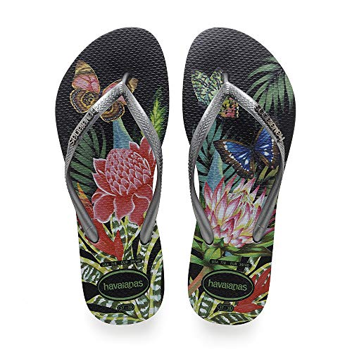 Slim 1164 Mujer Chanclas graphite Para Tropical black Havaianas dga10qd
