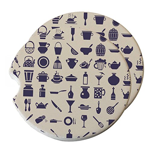 Space Case Chef Tools - Absorbant Sandstone Car Coaster Set